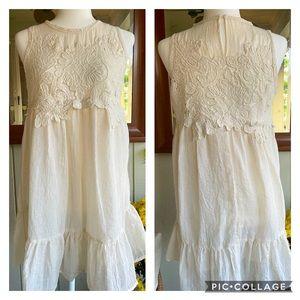 Umgee - Boho Linen Lace Dress